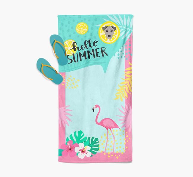 'Hello Summer' Pool Towel with Jack-a-Poo Icon