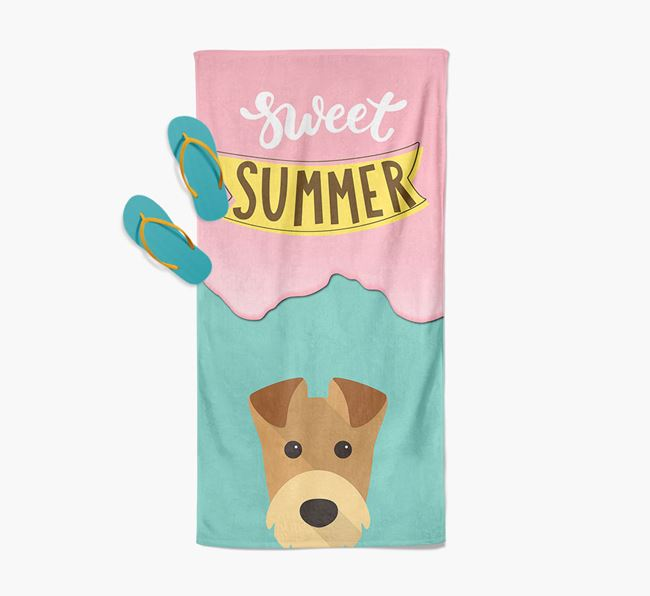 Sweet Summer with Airedale Terrier Icon Pool Towel