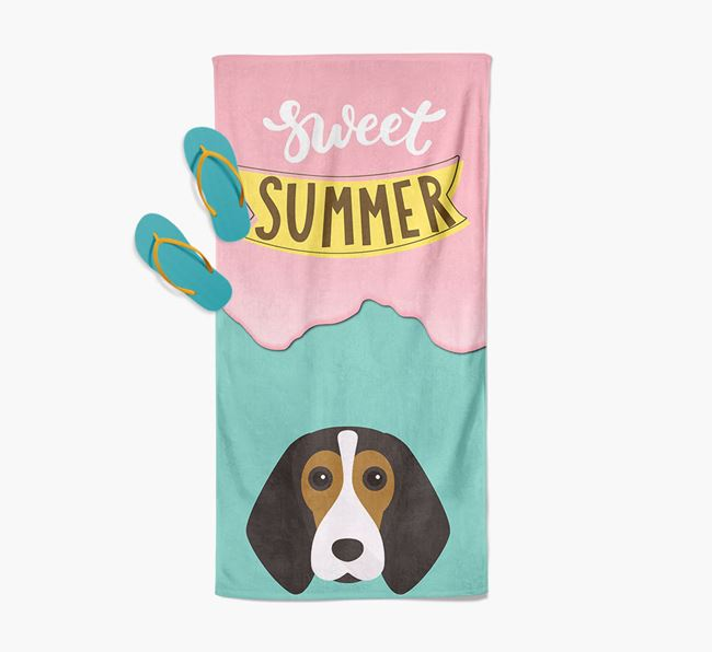 Sweet Summer with Beagle Icon Pool Towel