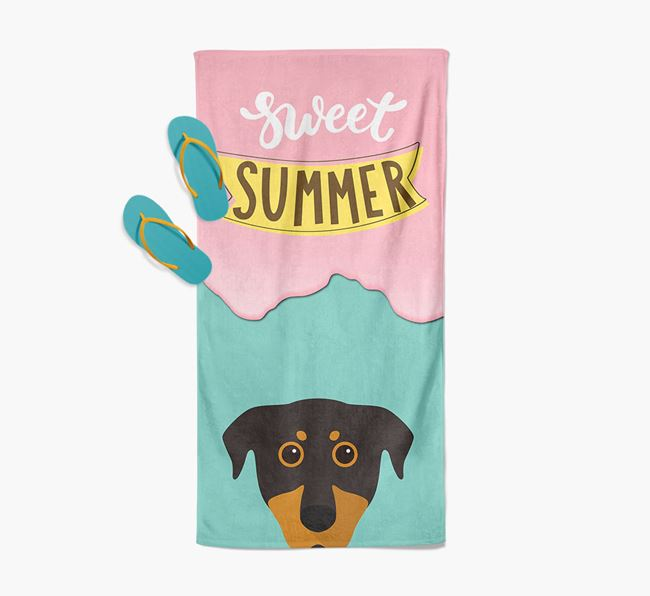 Sweet Summer with Beauceron Icon Pool Towel