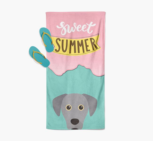 Sweet Summer with Blue Lacy Icon Pool Towel