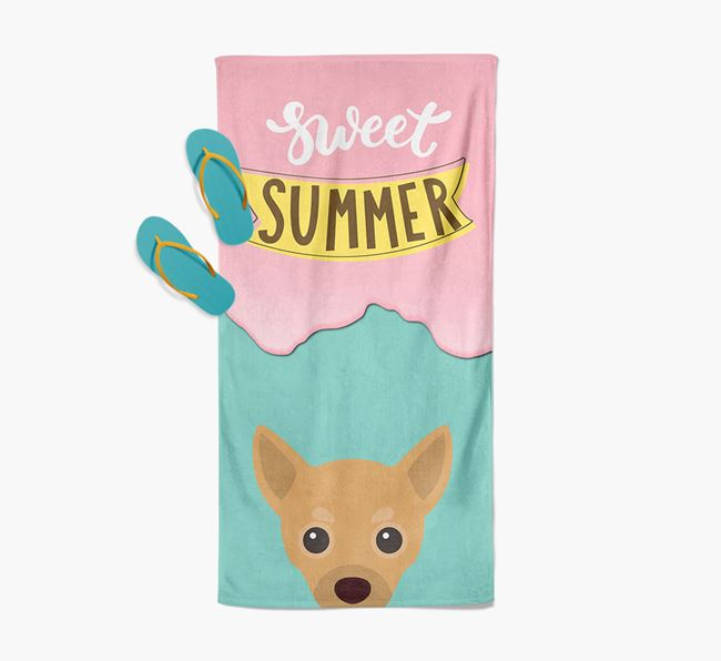 Sweet Summer with Chihuahua Icon Pool Towel