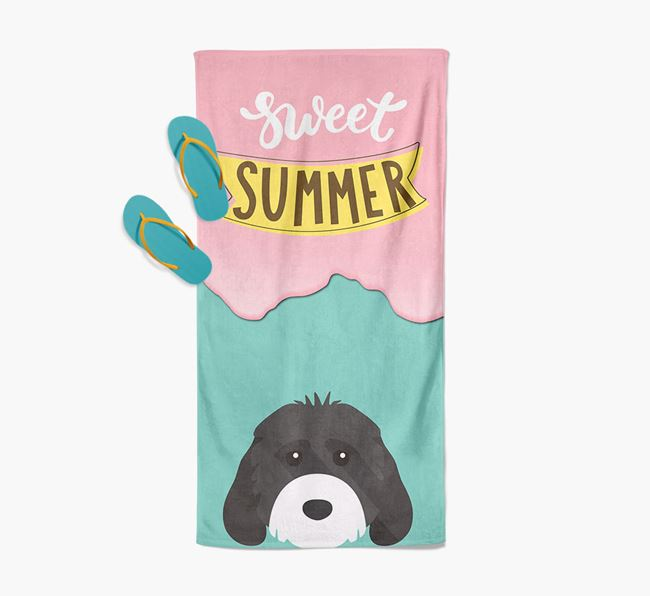 Sweet Summer with Cockapoo Icon Pool Towel