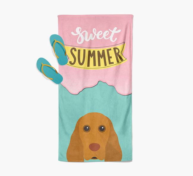 Sweet Summer with Cocker Spaniel Icon Pool Towel