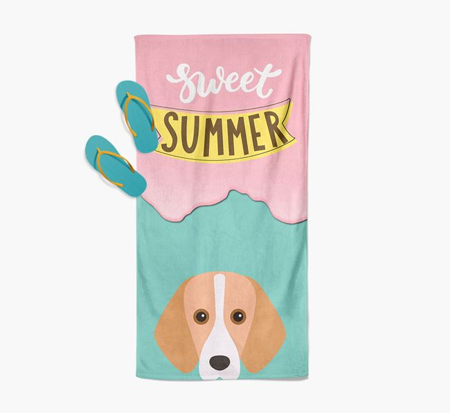 Sweet Summer with Foxhound Icon Pool Towel