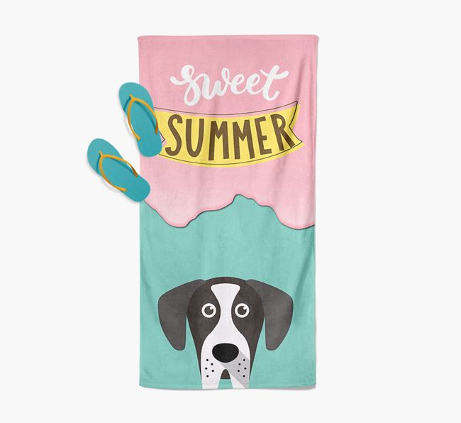 Sweet Summer with Great Dane Icon Pool Towel