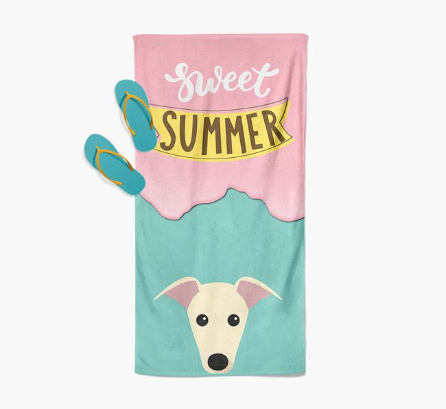 Sweet Summer with Greyhound Icon Pool Towel