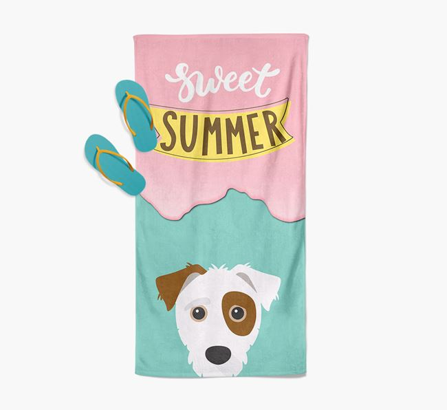 Sweet Summer with Jack-A-Poo Icon Pool Towel