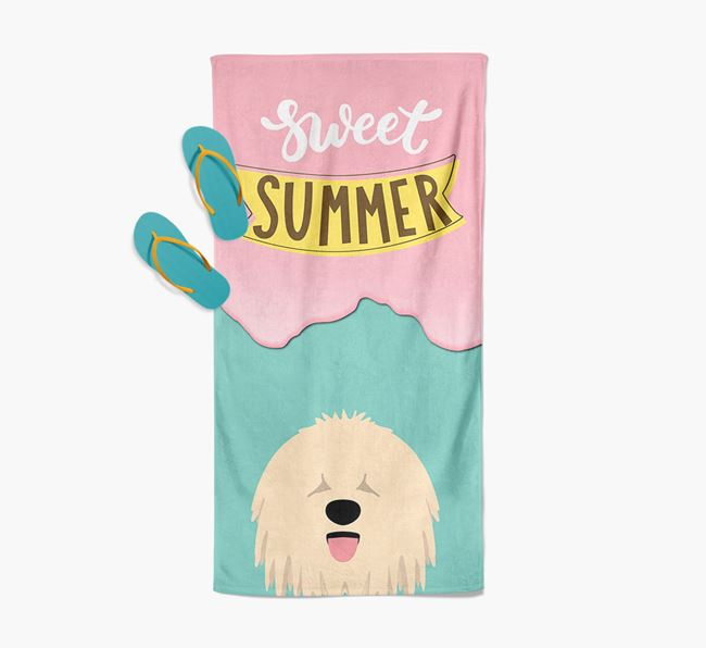 Sweet Summer with Komondor Icon Pool Towel
