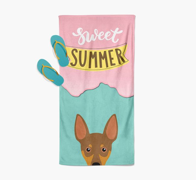 Sweet Summer with Miniature Pinscher Icon Pool Towel
