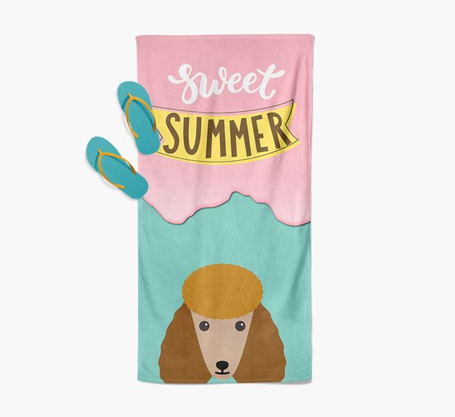 Sweet Summer with Poodle Icon Pool Towel