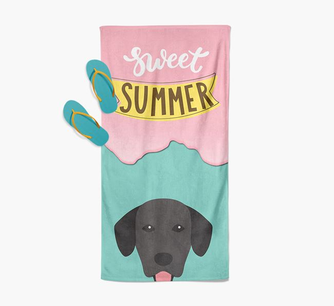 Sweet Summer with Springador Icon Pool Towel
