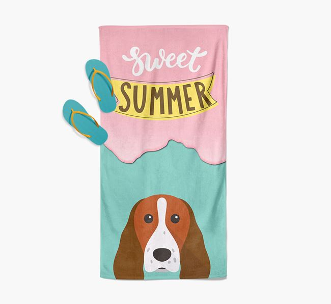 Sweet Summer with Springer Spaniel Icon Pool Towel