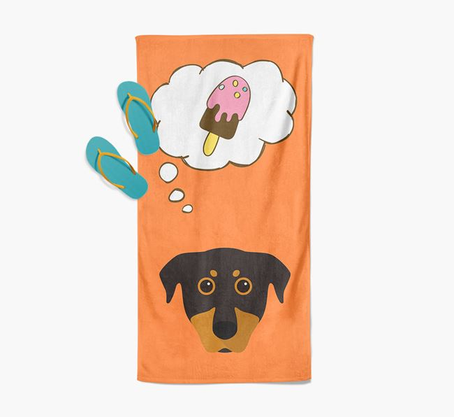 'Ice Cream Dreams' with Beauceron Icon Pool Towel