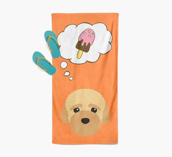 'Ice Cream Dreams' with Bich-poo Icon Pool Towel