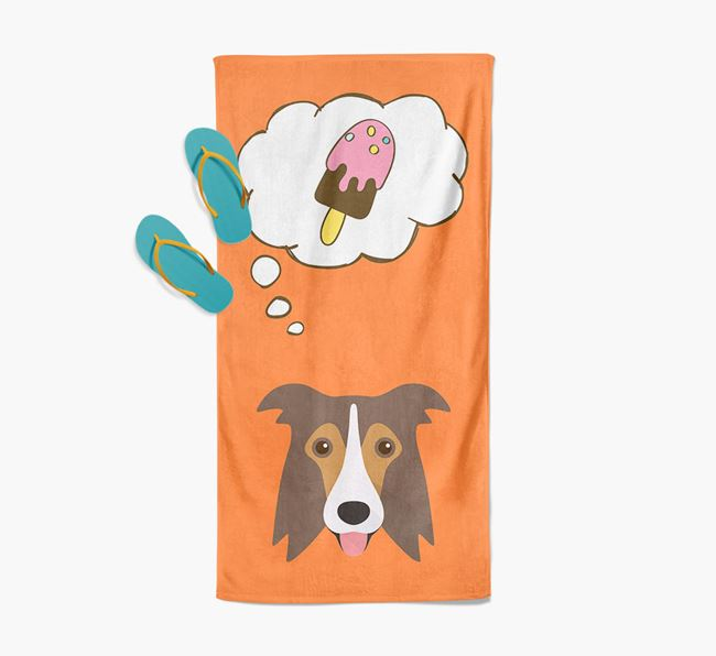 'Ice Cream Dreams' with Border Collie Icon Pool Towel