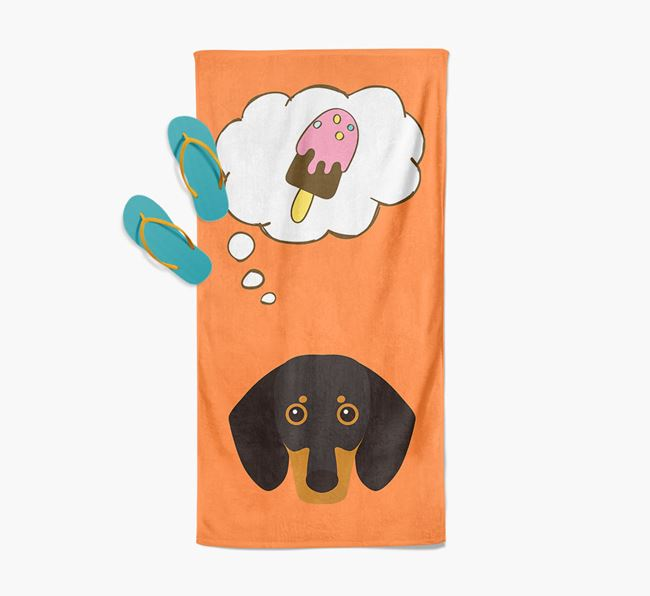 'Ice Cream Dreams' with Dog Icon Pool Towel