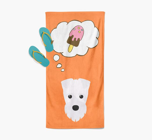 'Ice Cream Dreams' with Fox Terrier Icon Pool Towel