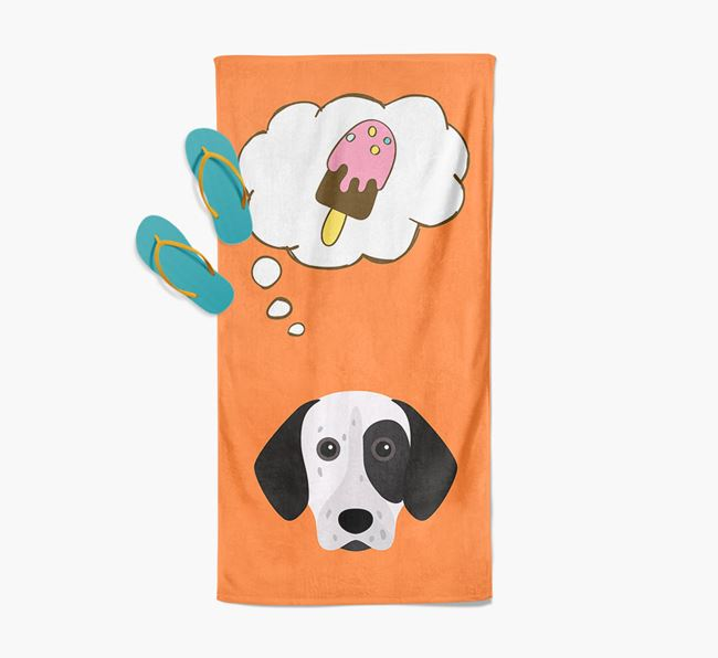 'Ice Cream Dreams' with German Shorthaired Pointer Icon Pool Towel