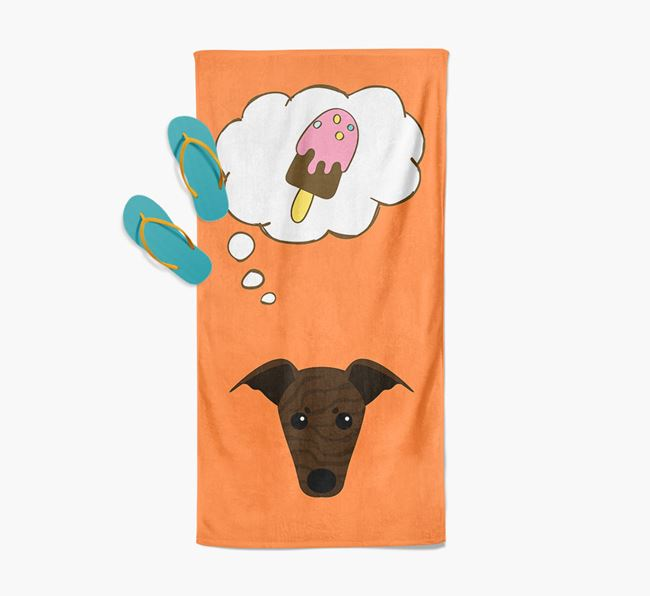 'Ice Cream Dreams' with Greyhound Icon Pool Towel
