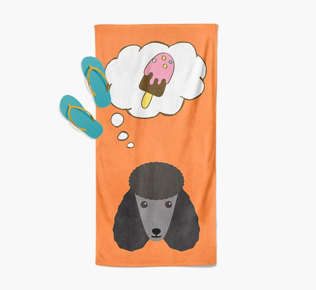 'Ice Cream Dreams' with Poodle Icon Pool Towel