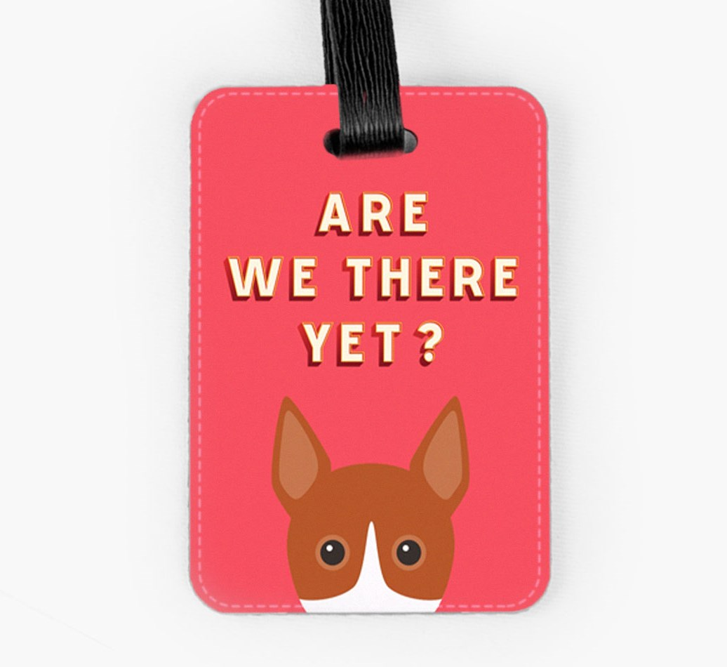 Basenji Luggage Tag Front