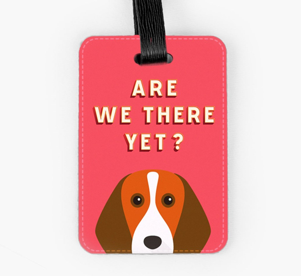Beagle Luggage Tag Front