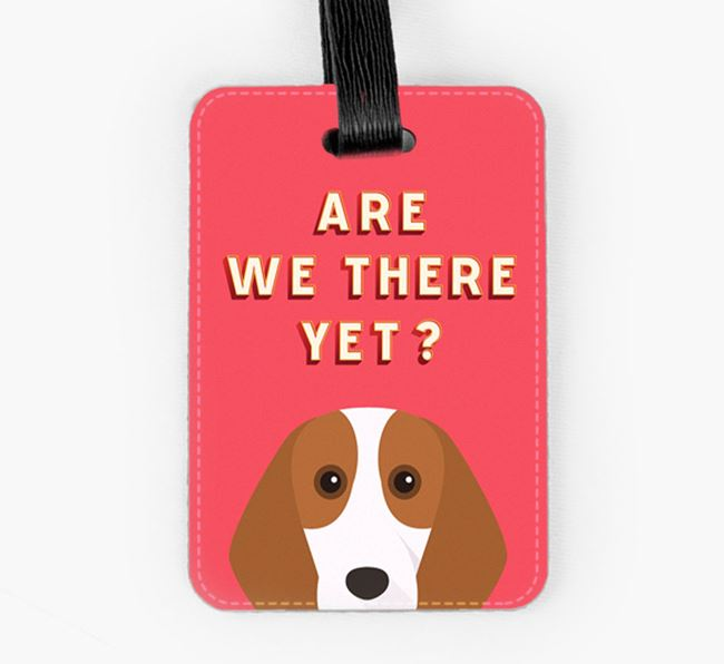 'Are We There Yet?' Beagle Luggage Tag