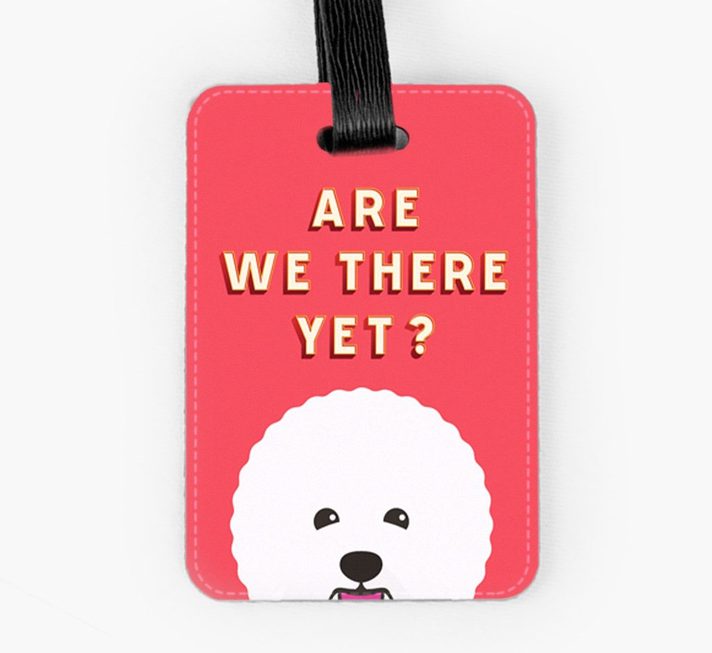 Bichon Frise Luggage Tag Front