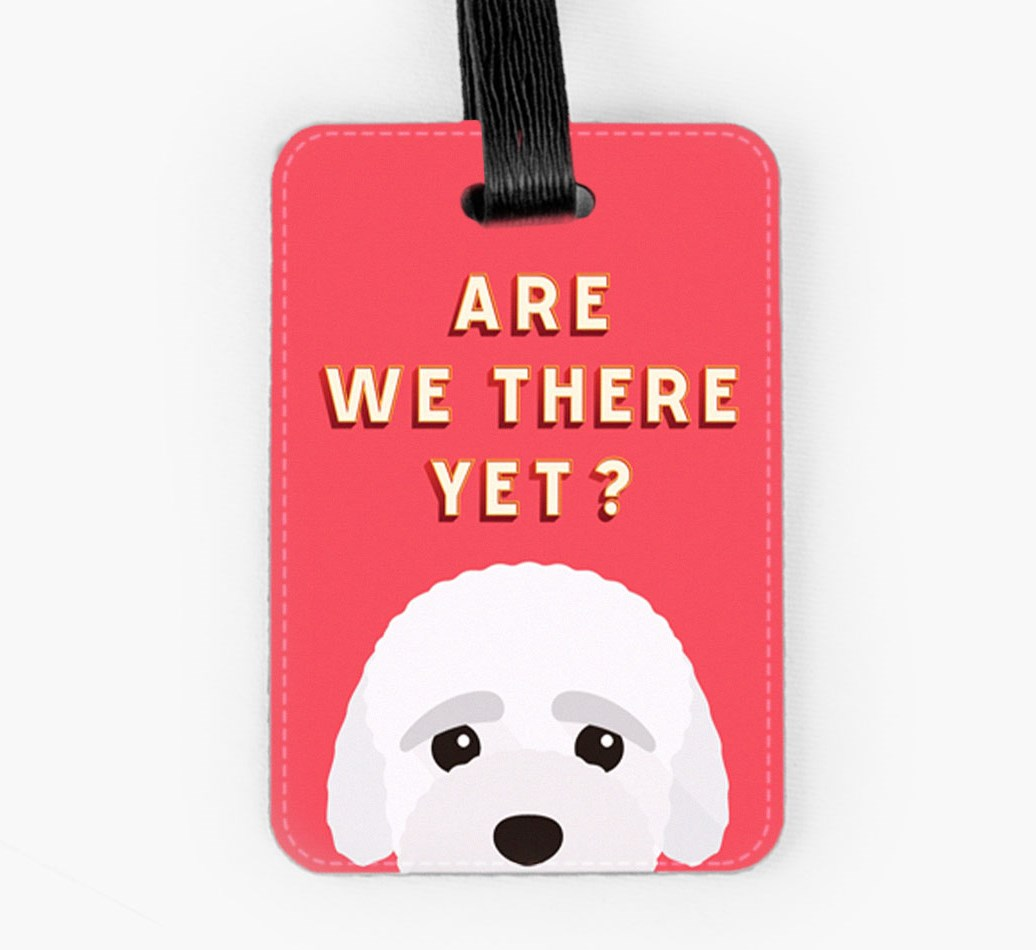 Bich-poo Luggage Tag Front