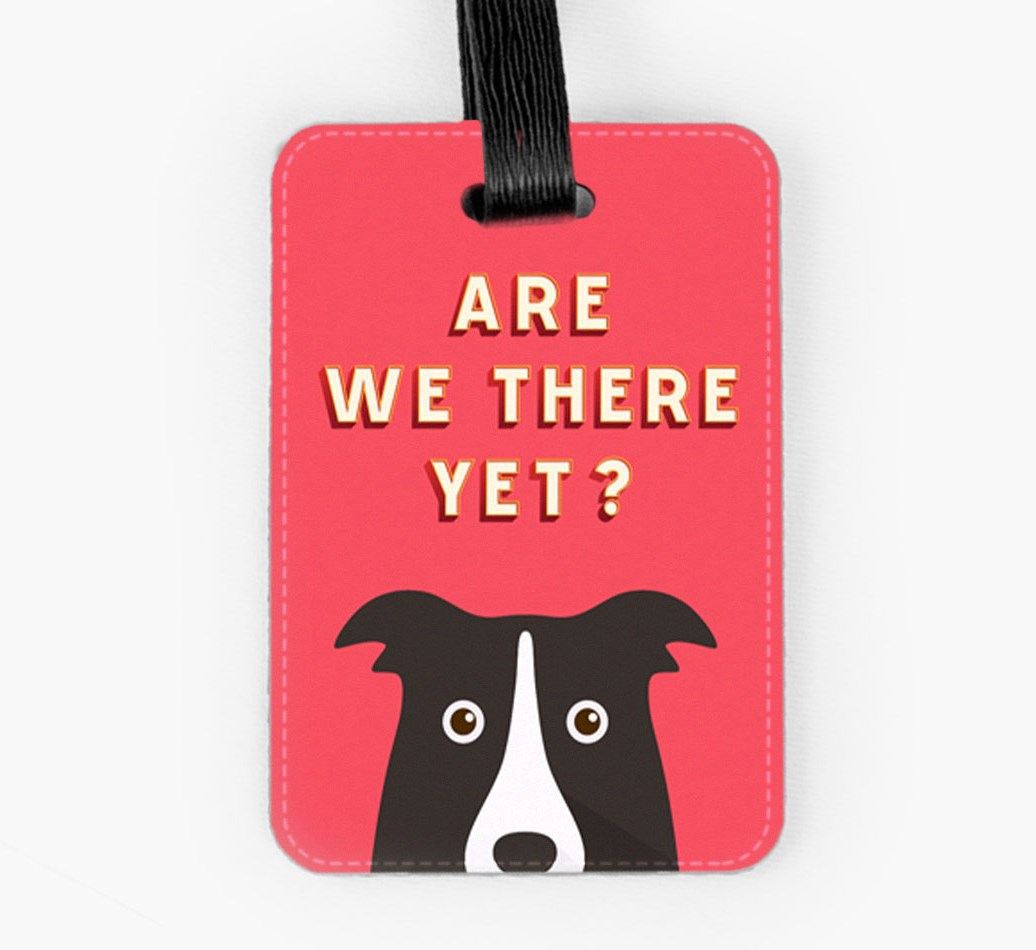 Border Collie Luggage Tag Front