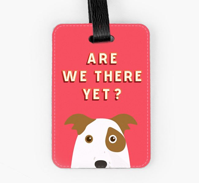 'Are We There Yet?' Border Collie Luggage Tag
