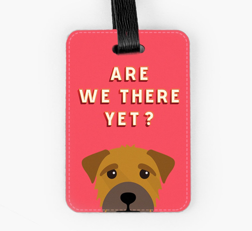 Border Terrier Luggage Tag Front