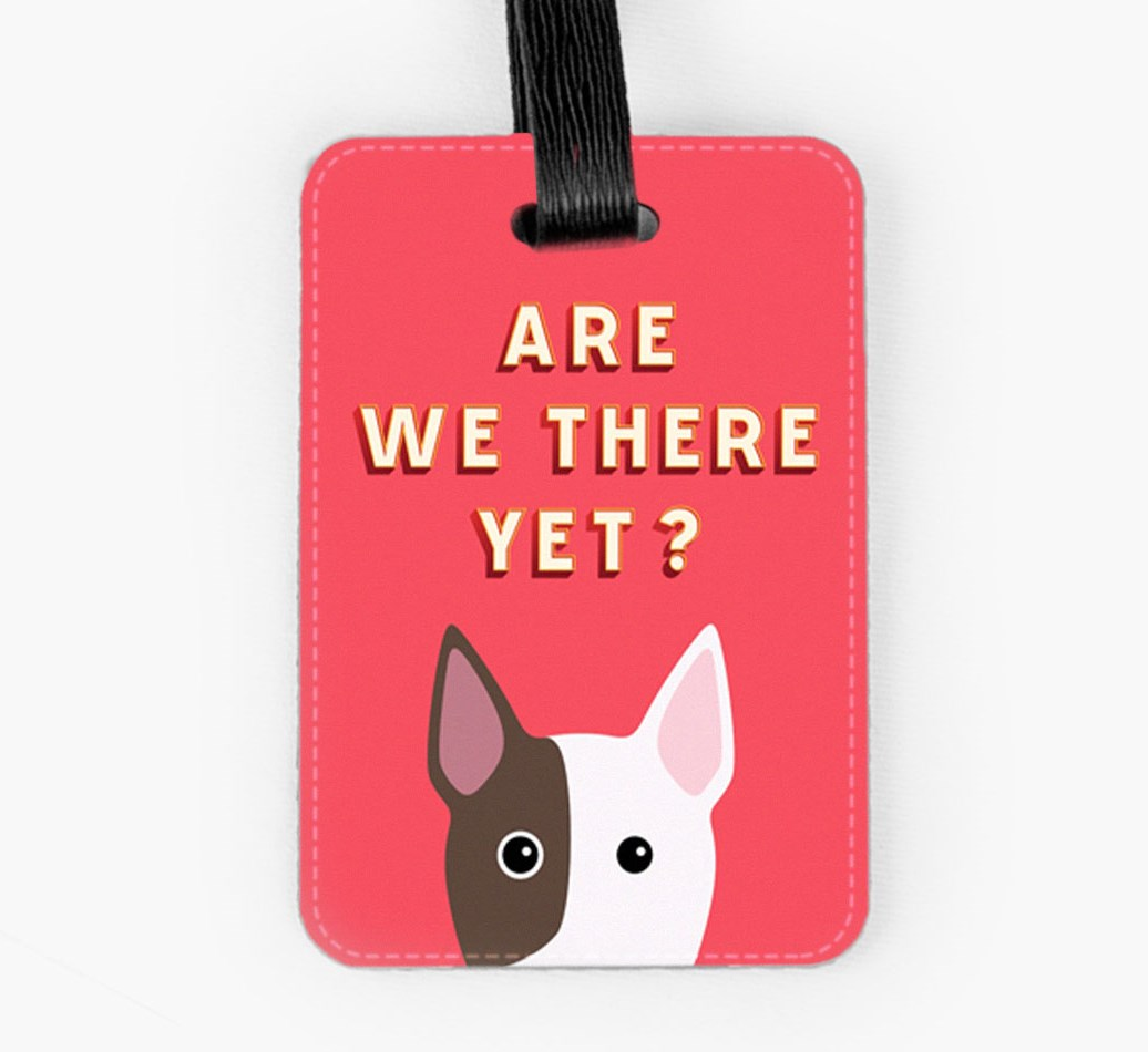 Bull Terrier Luggage Tag Front