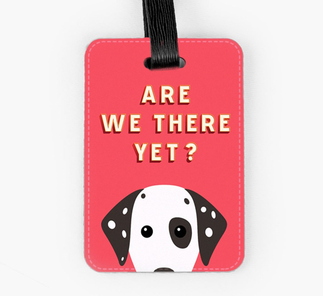 Dalmatian Luggage Tag Front