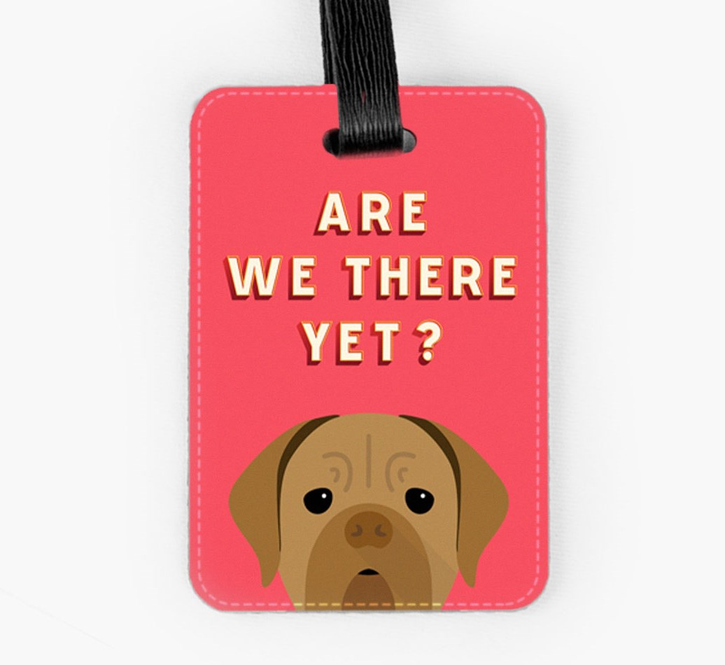 Dogue de Bordeaux Luggage Tag Front