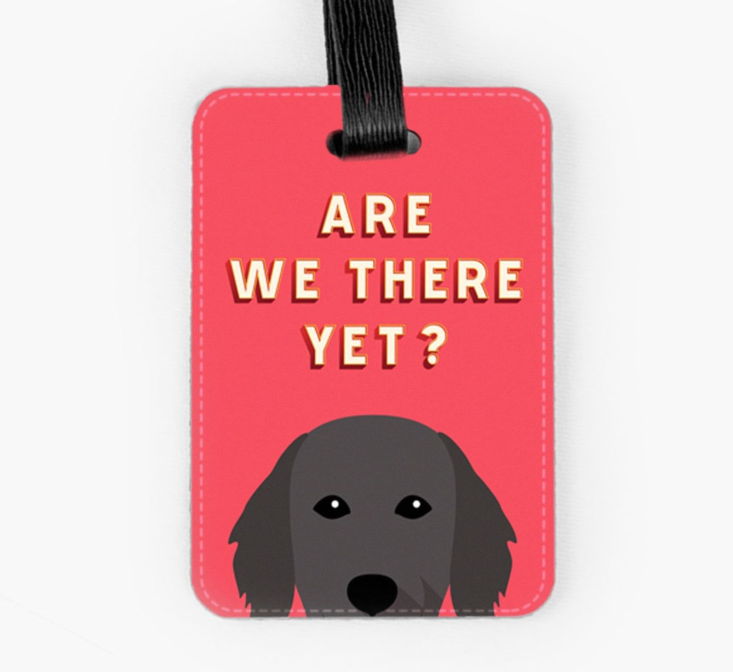 Flat-Coated Retriever Luggage Tag Front