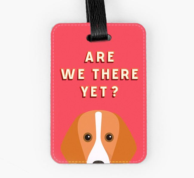 'Are We There Yet?' Foxhound Luggage Tag