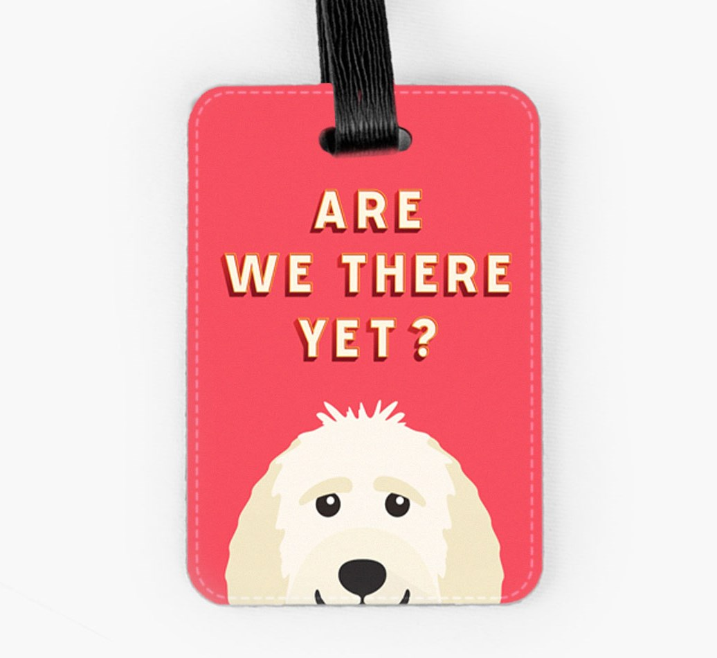 Goldendoodle Luggage Tag Front
