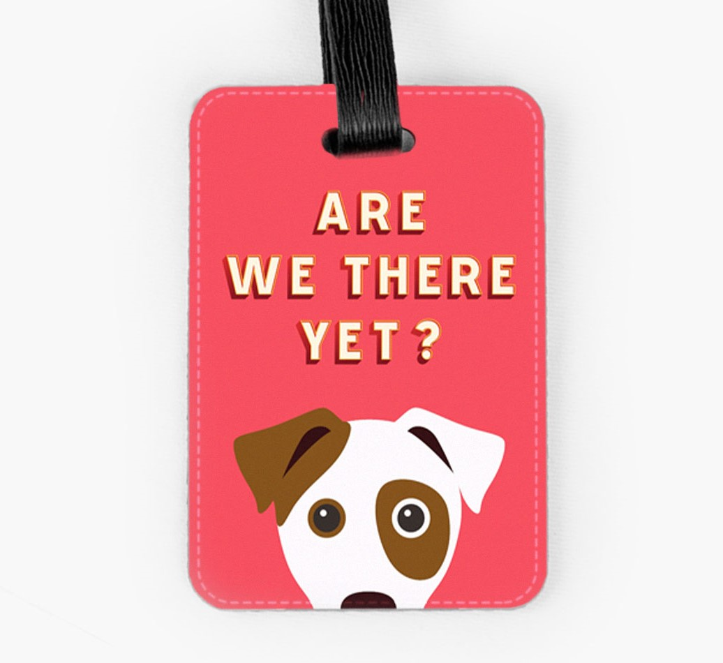 Jack Russell Terrier Luggage Tag Front