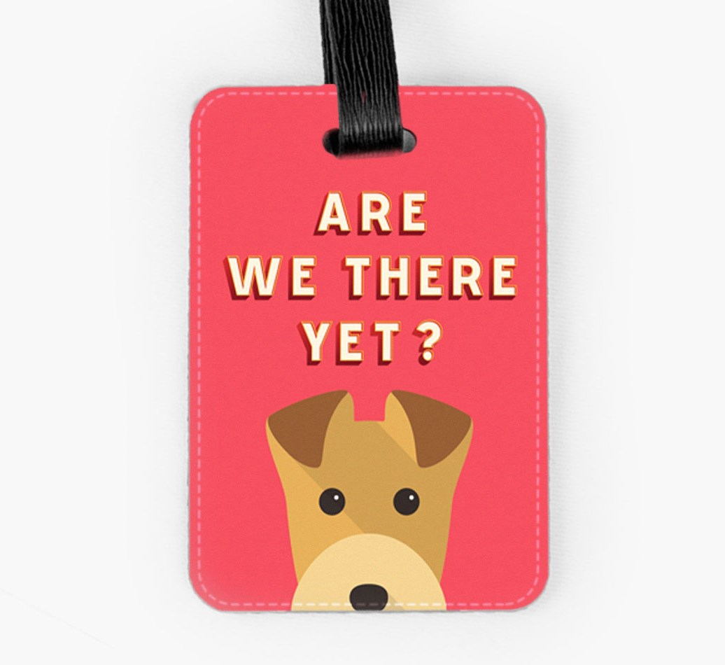 Lakeland Terrier Luggage Tag Front
