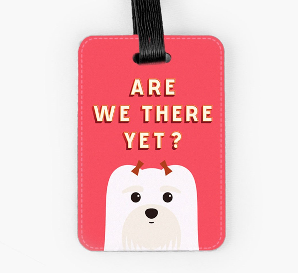 Maltese Luggage Tag Front