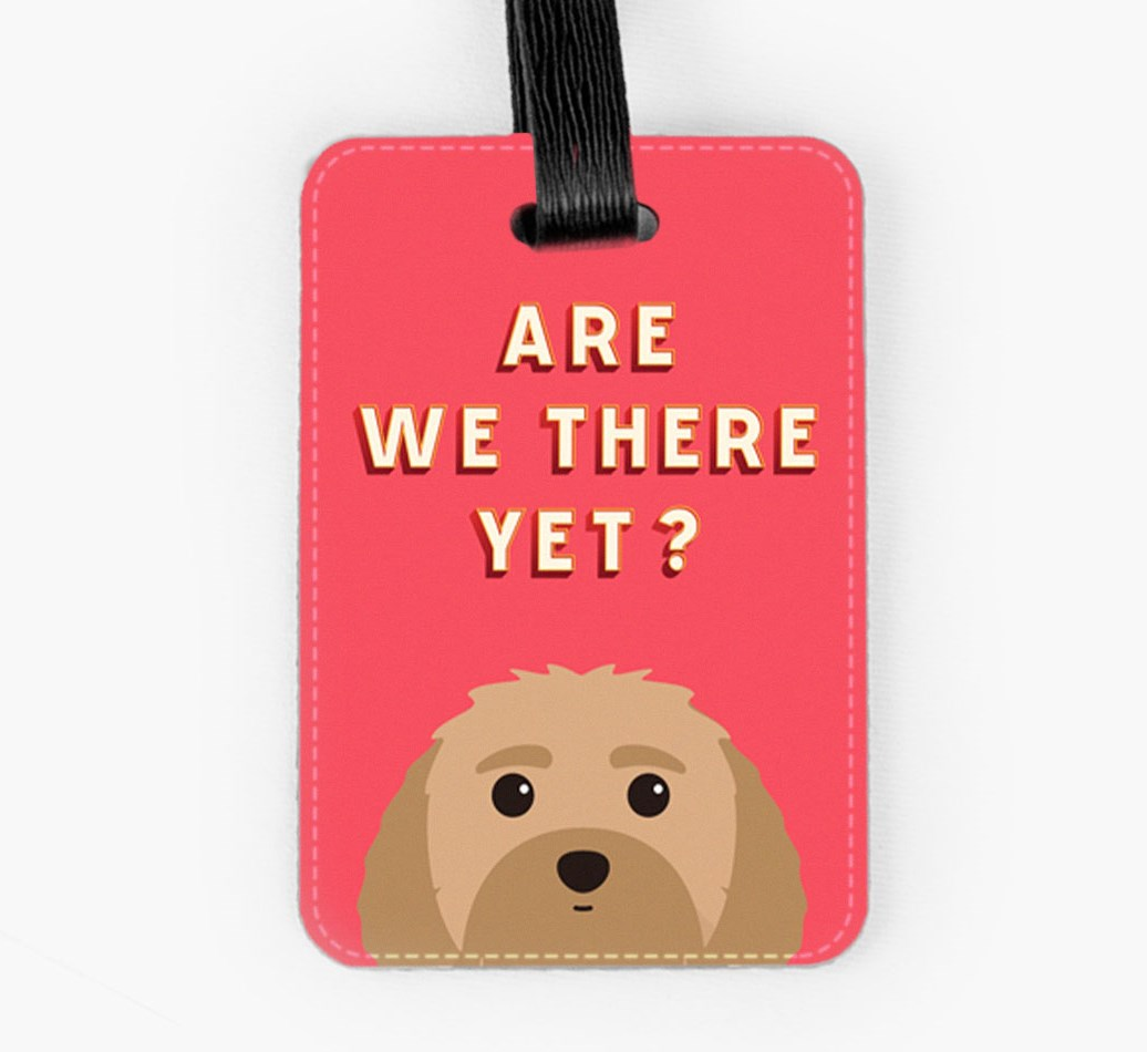 Malti-Poo Luggage Tag Front