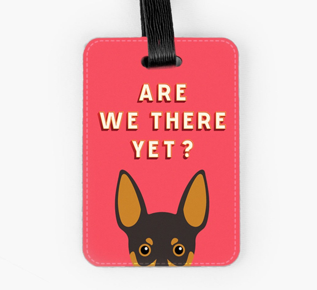 Miniature Pinscher Luggage Tag Front