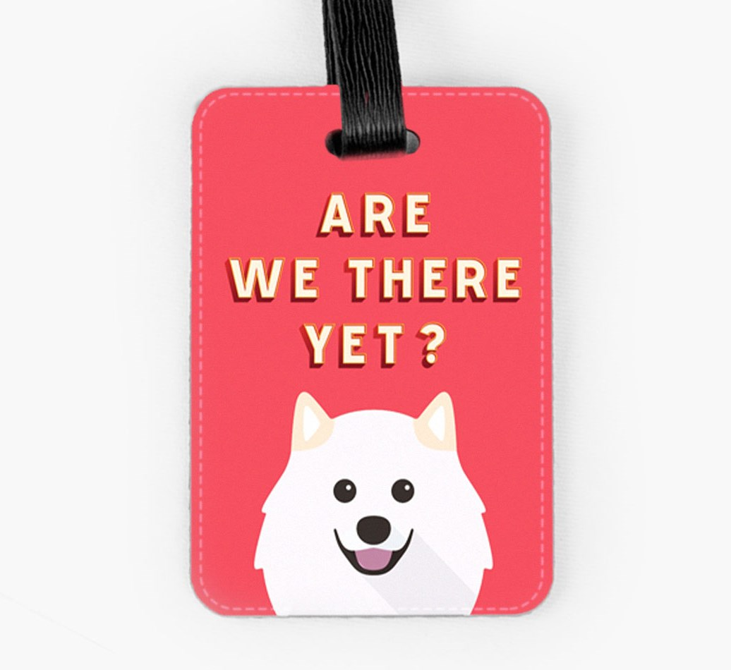 Samoyed Luggage Tag Front