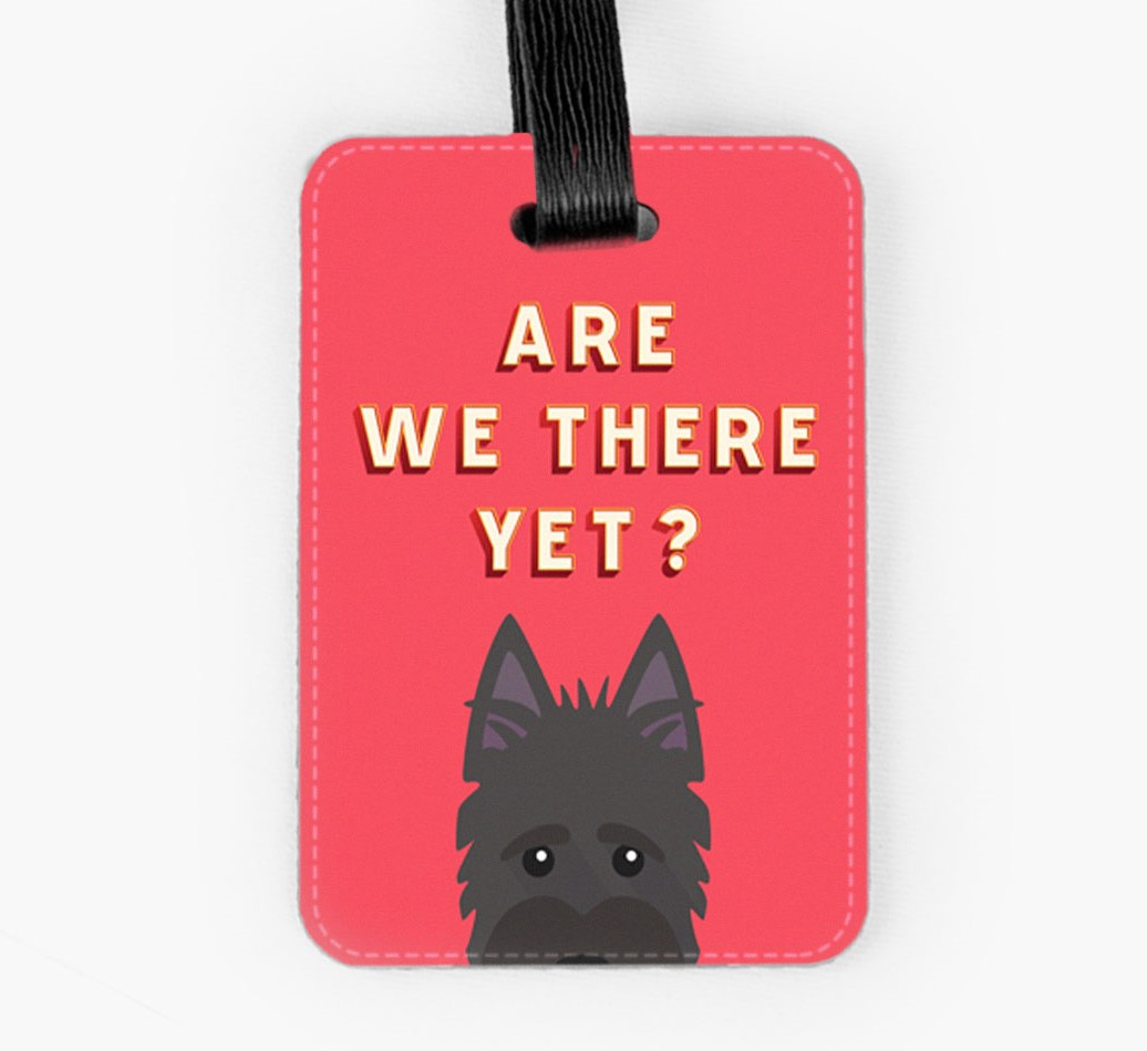 Scottish Terrier Luggage Tag Front