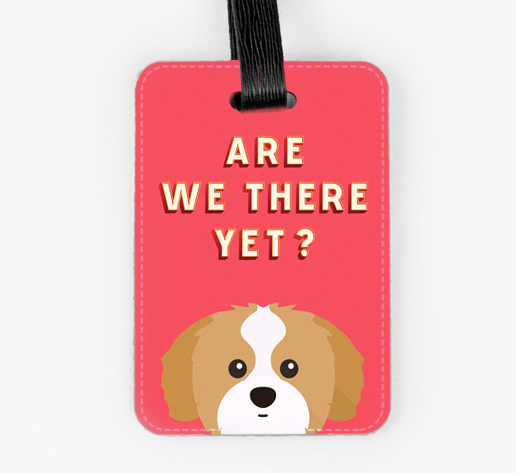 Shih Tzu Luggage Tag Front