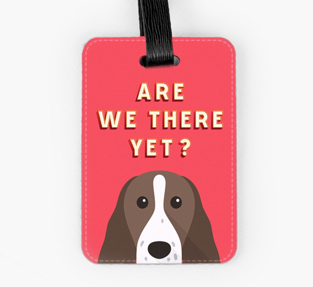 Springer Spaniel Luggage Tag Front