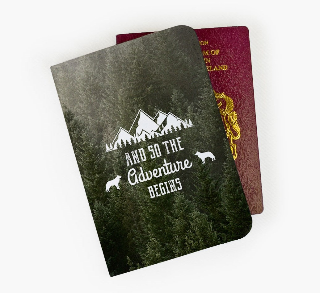 Border Collie Passport Cover Front