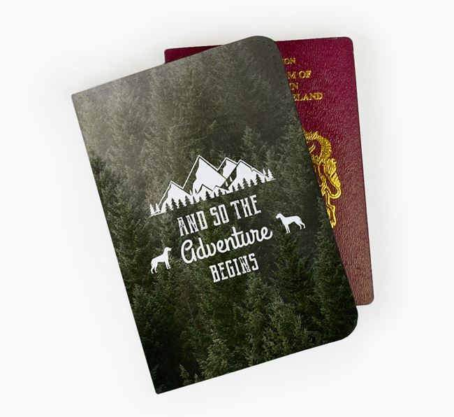 'So The Adventure Begins' Dog Passport Cover